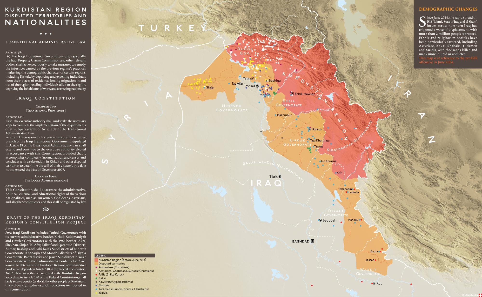 Map Kurdistan Region of Iraq Kurdistan the Land of Struggle